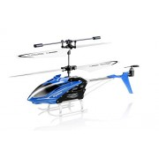 Toy House Syma Speed Helicopter 3 Channel Infrared Remote Control with Gyroscope and LED Lights for Indoor Blue