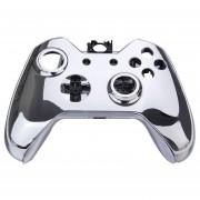 Louiwill Kit De Modificación De Reemplazo De Control Inalámbrico Caja De Cubierta De Plaqueta Para Controlador Inalámbrico Xbox One Plata Cromado