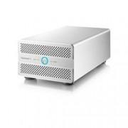 AKiTiO Thunder3 DUO PRO capacit+á 8TB assemblato con HDD WD Red (2x4TB) - interfaccia USB 3.0, Thunderbolt 3 - alimentazione esterna - MAC non supportato