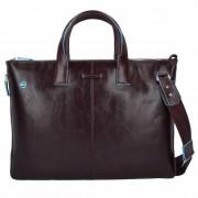 Piquadro Blue Square Business Tasche Leder 42 cm Laptopfach mahagonibraun