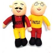 Set of Motu and Patlu Stuffed Toys for Kids