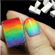Esponja 4pcs Starry Sky Gradient Color Nail Art Sponge-Blanco (CX)