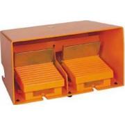 Comutator de picior dublu - ip66 - cu capac - metalic - portocaliu - 4 nc + 4 no - Comutator de picior - Harmony xpe - XPER5110D - Schneider Electric