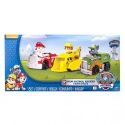 Paw Patrol Nickelodeon, Rescue Racers 3Pk Vehicle Set Marshal Rubble, Rocky (Multicolour)