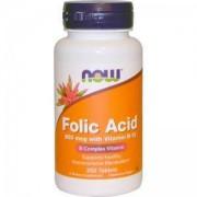 Витамин Б-9 800 мкг. - Vitamin B-9 (Folic Acid) + B12 - 250 таблетки - NOW FOODS, NF0476