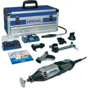 Outil multifonctions + 128 pièces accessoires dans la valise Dremel 4000-6/128