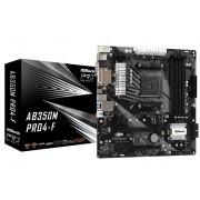 ASRock Motherboard AB350M Pro4-F AM4 4DDR4 DVI/HDMI/VGA M.2 mATX