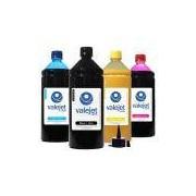 Kit 4 Tintas L365 Valejet para Epson Bulk Ink CMYK 1 Litro Pigmentada