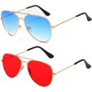 SRPM Aviator Sunglasses(Red, Blue)