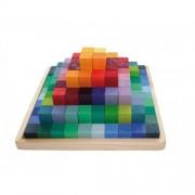 JOC PIRAMIDA, 100 PIESE - GRIMM'S Spiel und Holz Design (42080)