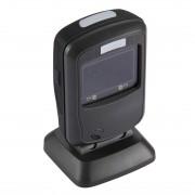 Lecteur de code à barres à code fixe USB à code à barres avec balayage / détection de mode de numérisation et de numérisation d écran (noir)