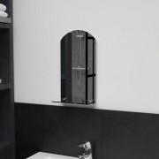 vidaXL Стенно огледало с рафт, 20x40 см, закалено стъкло