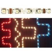 Minden irányba hajlítható Led szalag 42 led/m, RGB 5050 chip, 250 Lumen, RGB, Life Light Led,