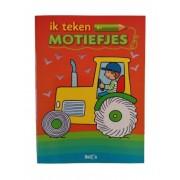Ballon tekenboek Motiefjes junior 27 x 20 cm papier oranje