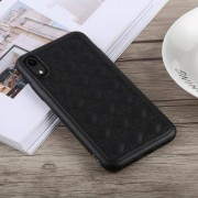 Apple TOTUDESIGN Deo serie Shockproof TPU + PU Case voor iPhone XR (zwart)
