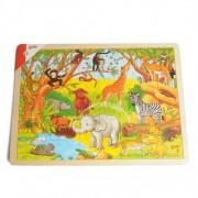Dille&Kamille Puzzle animaux africains, bois, 48 pièces