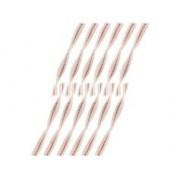 Lunartec 12 mèches de rechange pour lampe-tempête à pétrole - 140 x 11,5 x 2 mm