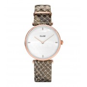 CLUSE Horloges Triomphe Rose Gold Plated White Pearl Bruin