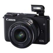 Canon EOS M10 systeemcamera Zwart + 15-45mm IS STM