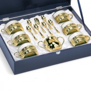 American Coffee Set Gold by Chinelli Made in Italy