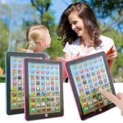 ER Tablet Pad ordenador para los niños del cabrito Aprendizaje Inglés Educación Enseñar juguete Azul