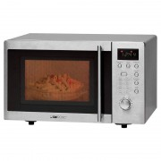 Clatronic MWG 778 U Micro-ondas com Grill 20L 800W Prateado