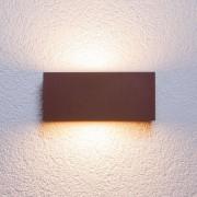 Lampenwelt.com Applique d'extérieur Bente carrée brun rouille - LAMPENWELT.com
