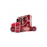 I love... the little box of love raspberry & blackberry confezione regalo 250 ml crema da bagno & doccia + 50 ml burro per il corpo + 50 ml scrub + 15 ml balsamo labbra