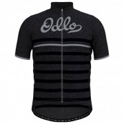 Odlo - Stand-Up Collar S/S Full Zip Element Print - Maillot vélo taille L, noir