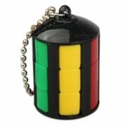 Mini slider keychain estilo little magic tower cubo rompecabezas de juguete - negro