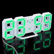 Despertador digital del LED 3D? reloj de mesa moderno del escritorio de la pared con snooze - luz verde