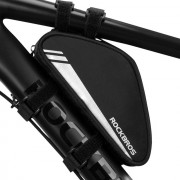 ROCKBROS Front Bike Bag Tube Reflective Frame Bicycle Bag Triangle Pouch