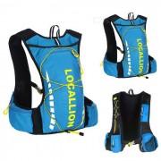 LOCAL LION Ciclismo al aire libre senderismo impermeable hombros bolsa mochila - azul + verde (20 ~ 25 l)