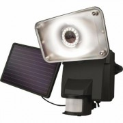 MAXSA Solar Security Video Camera with Floodlight - 16 LEDs, 879 Lumens, Model 44642-CAM-BK, Black