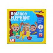 Joc de construit in echilibru cu piese din lemn, 60 piese
