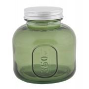 Borcan cu capac sticla reciclata GREEN (cm) O 9X10
