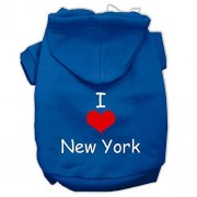Mirage Pet Products I Love New York Sudadera con Capucha para Mascota, Color Azul, Talla pequeña