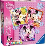 PUZZLE MINNIE MOUSE 3 BUC IN CUTIE 25,36,49 PIESE Ravensburger