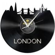 Schallplattenuhr.ch Schallplatten Wanduhr - London