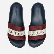 Ted Baker Men's Rastar Slide Sandals - Dark Red/Dark Blue - UK 7 - Red/Blue