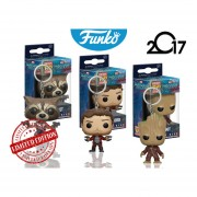 Set 3 Llaveros Star Lord Rocket Groot Funko Keychain Pop Pelicula Guardianes De La Galaxia Vol.2