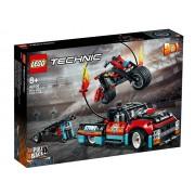 LEGO Technic Camion si motocicleta pentru cascadorii (42106)