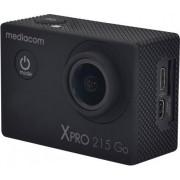 Mediacom M-Scxp215g Action Cam Wifi Videocamera Subacquea 4k Ultra Hd 12 Mpx Impermeabile Fino A 45 Mt Colore Nero - M-Scxp215g Xpro 215 Go