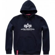 Alpha Industries Basic Felpa con cappuccio Blu 2XL