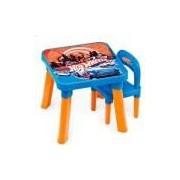Mesa Com Cadeira Infantil Hot Wheels - Fun