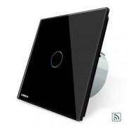 Intrerupator simplu wireless cu touch Livolo din sticla Negru