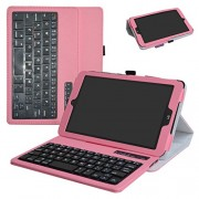 T-Mobile LG G Pad X2 8.0 Plus/ Sprint G Pad F2 8.0 Case,Mama Mouth Slim Stand PU Leather Cover with Romovable Bluetooth Keyboard for LG G Pad X2 8.0 Plus V530 / Sprint G Pad F2 8.0 LK460 Tablet,Pink