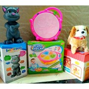 Play Design Touching Tom & Flash Drum & Jumping Dog (Multi Color) Combo Pack