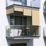 Jarolift Roleta na balkon/markiza pionowa, Piaskowa, 240x140cm