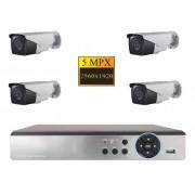 Sistem de supraveghere STAR NVR Hibrid A6904LME 1080p SATA HDMI VGA 4 camere de 5MP incluse